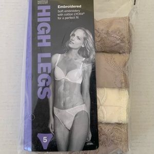 Marks & Spencer cotton embroidred panties set of 4